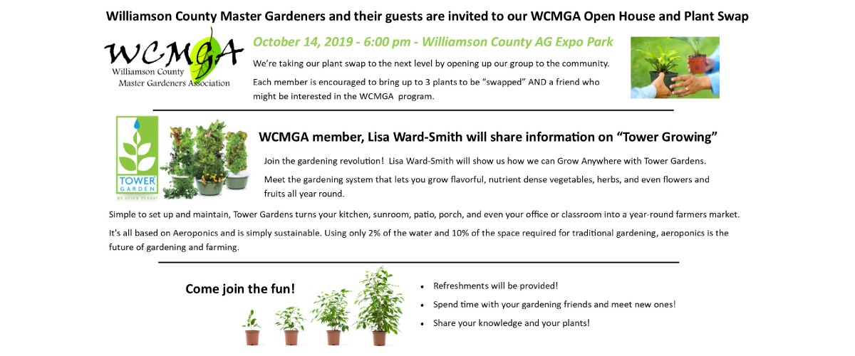 WCMGA Open House and Plant Swap
