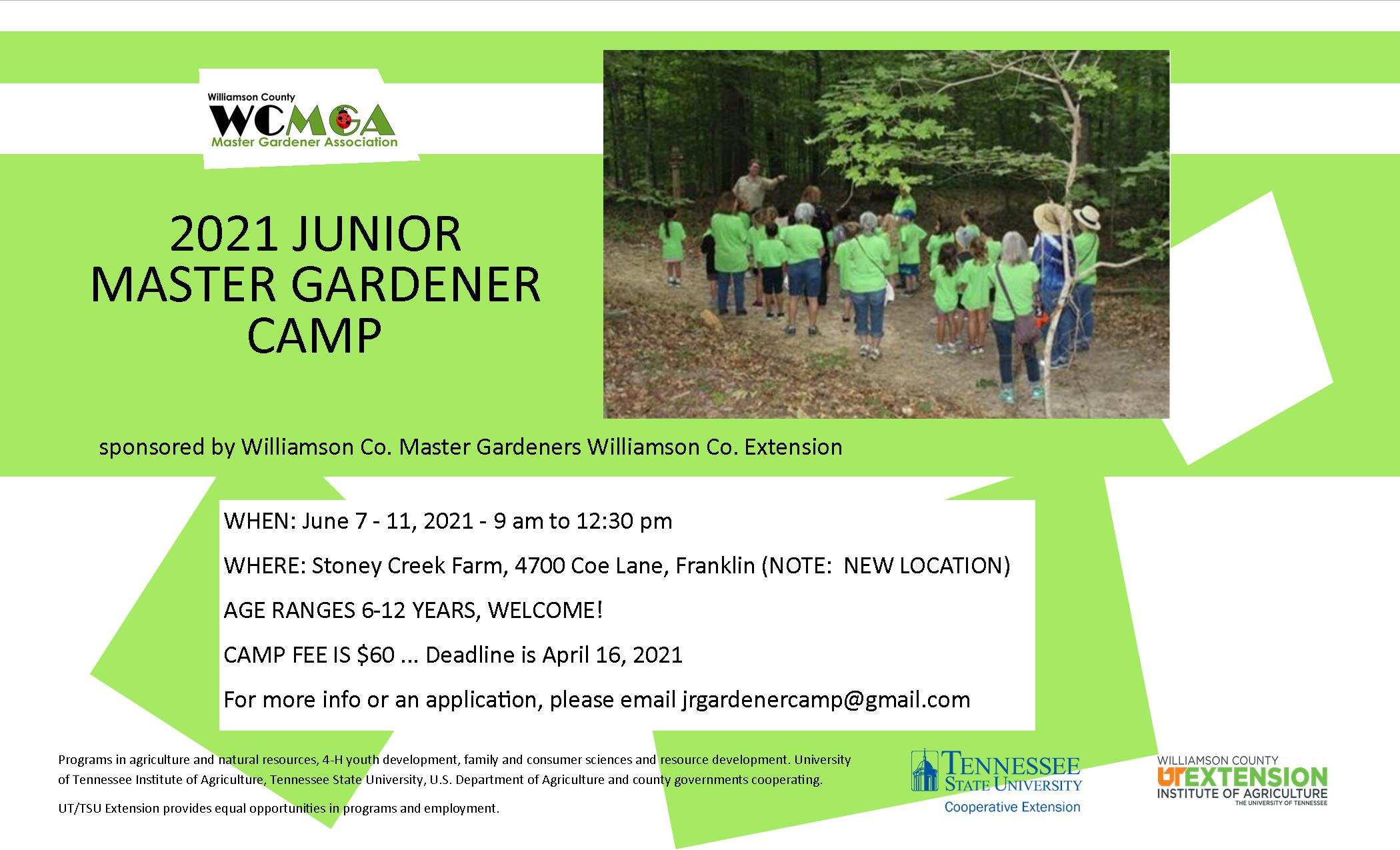 Junior Master Gardener Camp